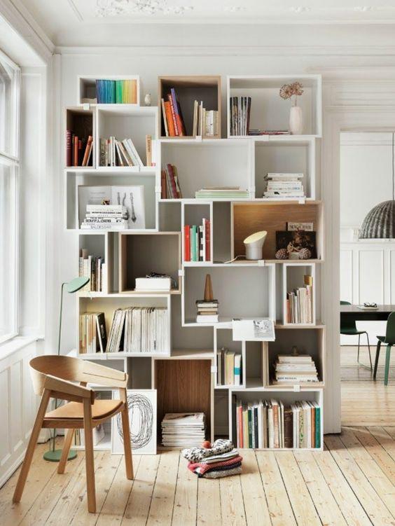 b cher stilvoll verstauen. Black Bedroom Furniture Sets. Home Design Ideas