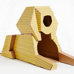 Flatpack cardboard cat houses architectural landmarks designboom 05.jpg