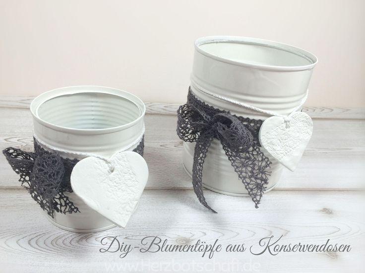 Basteln und dekorieren mit alten blechdosen - Deko aus alten sachen ...