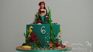 Arielle die meerjungfrau torte quer zum 6. geburtstag.jpg