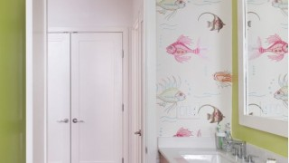 Bathroom new look with wallpaper.jpg