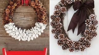 Coole diy ideen fuer winterdeko mit nadelbaeume zapfen_diy zapfen kranz fuer weihnachtliche tuerdeko.jpg