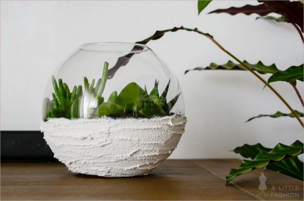 Originelle blumentopf ideen - Glaser dekorieren mit sand ...