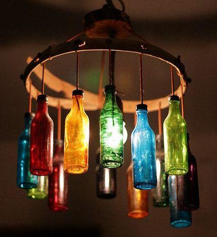 Glasflaschen in coole DIY Lampen umwandeln - nettetipps.de
