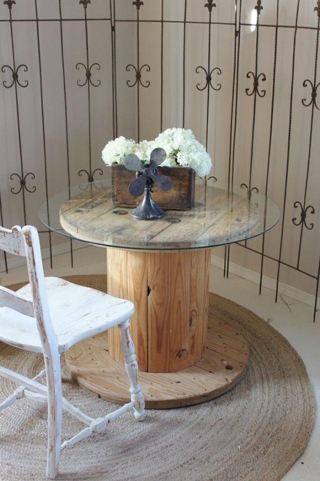 anleitung zum nachmachen tisch aus kabeltrommel. Black Bedroom Furniture Sets. Home Design Ideas
