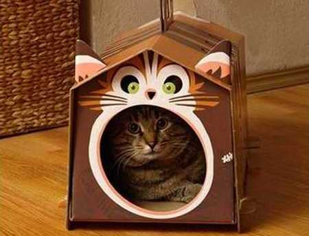 Handmade cat houses recycling paper cardboard 4.jpg