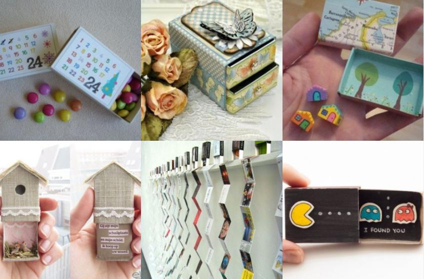 kreatives basteln mit streichholzschachteln. Black Bedroom Furniture Sets. Home Design Ideas