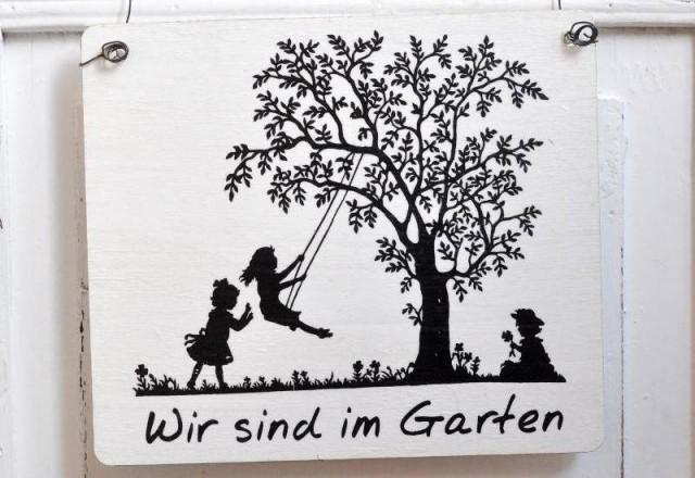 Bin Im Garten Schilder Als Nette Dekoration Nettetippsde