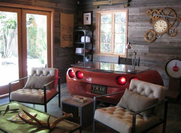 autoteile als moderne deko. Black Bedroom Furniture Sets. Home Design Ideas