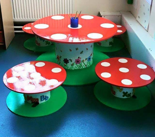 Painted Stools For Classroom
