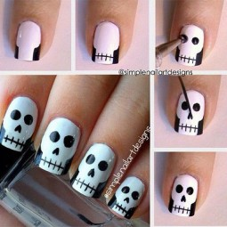 20 easy step by step halloween nail art tutorials for beginners 2015 4.jpg