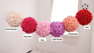 30cm diameter high compact artificial fabric silk rose flowers ball wedding party christmas house store decoration 1.jpg