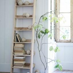 alte leiter als wundersch nedekoration. Black Bedroom Furniture Sets. Home Design Ideas