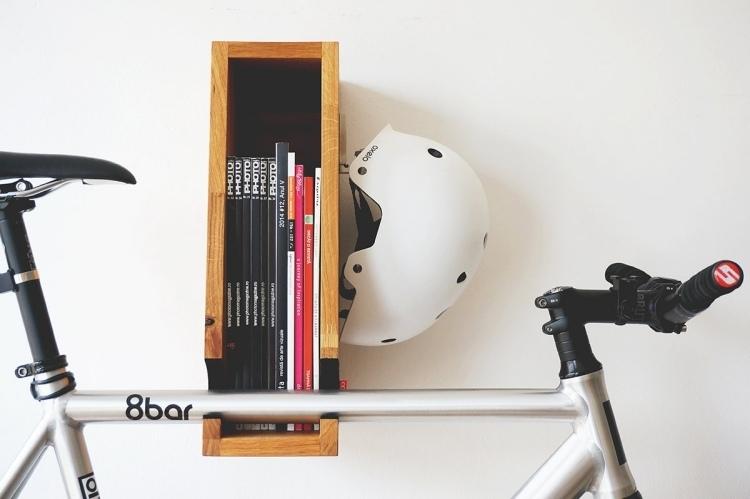 fahrradhalter platzsparenden ideen. Black Bedroom Furniture Sets. Home Design Ideas
