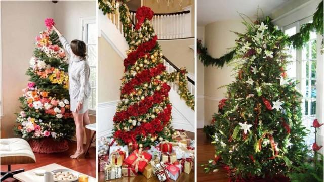 Weihnachtsbaum mit blumen schm cken - Weihnachtsbaum dekorieren ...