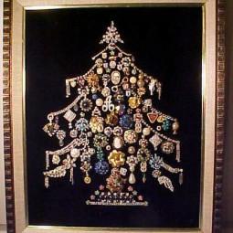 Weihnachtsdeko Extravagant.Woow Extravagante Weihnachtsdeko Aus Knöpfen Und Schmuck