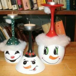Kerzenst nder aus weinglas tolle tipps f r winter deko - Billige weihnachtsdeko ...