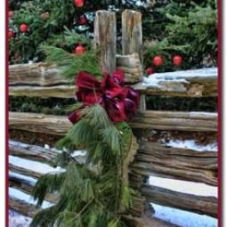 Zaun Dekoration Fur Winter Und Weihnachten Nettetipps De