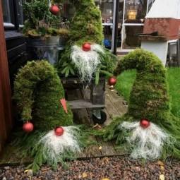 M rchenhafte gartendeko aus tannenzweigen - Billige weihnachtsdeko ...