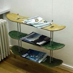 m bel aus alten skateboards. Black Bedroom Furniture Sets. Home Design Ideas