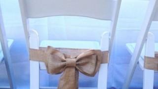 Nur fr brautpaar feier deko pinterest stuhl schleifen für sackleinen stühle