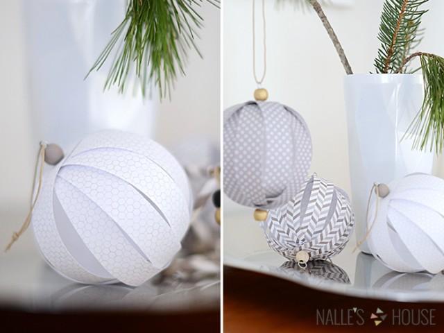 weihnachtskugel mit papier zusammen mit kindern basteln foto anleitung. Black Bedroom Furniture Sets. Home Design Ideas