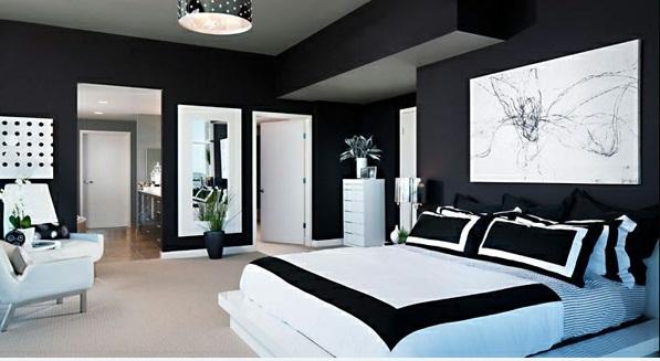 Stilvolles Schlafzimmer in Schwarz-Weiß :) - nettetipps.de