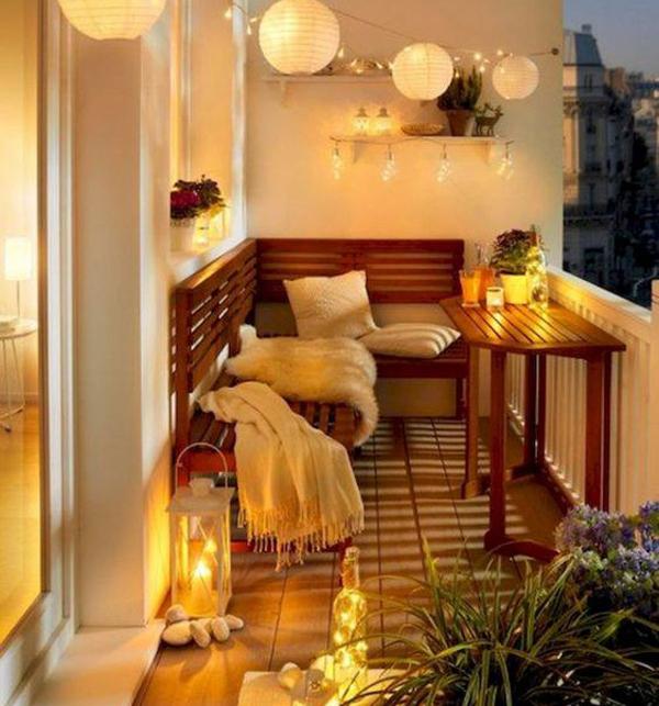 Balkon Hübsch Und Bequem Für Den Winter Dekorieren