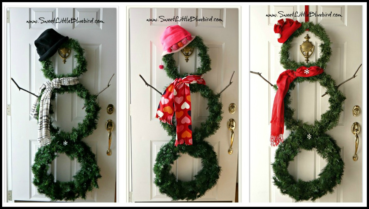 winter dekoration f r die vordere t r. Black Bedroom Furniture Sets. Home Design Ideas