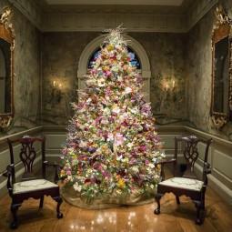 weihnachtsbaum mit blumen schm cken. Black Bedroom Furniture Sets. Home Design Ideas