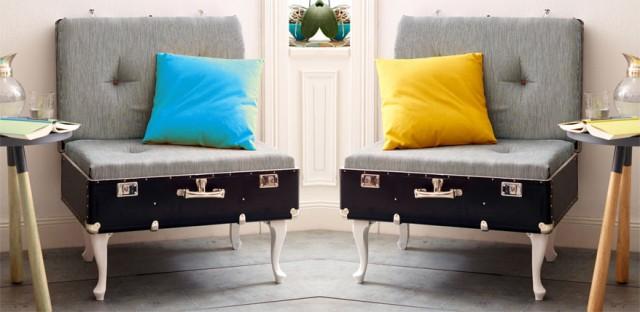 originelle vintage m bel aus alten koffern. Black Bedroom Furniture Sets. Home Design Ideas