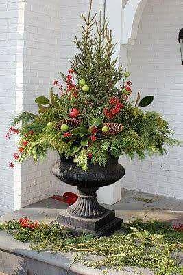 weihnachtliche eingangst r dekoration. Black Bedroom Furniture Sets. Home Design Ideas