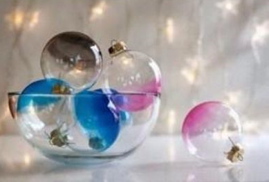 Diy durchsichtige weihnachtskugeln dekorieren - Durchsichtige weihnachtskugeln ...