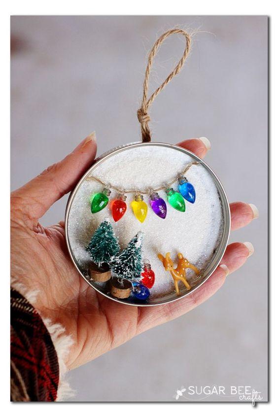 Diy weihnachtsdeko aus einmachgl ser deckel - Stylische weihnachtsdeko ...