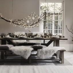 m rchenhafte deko ideen f r winter mit zweigen und sten. Black Bedroom Furniture Sets. Home Design Ideas