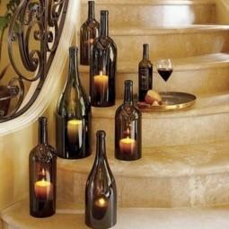 Designer leuchten diy lampe aus weinflasche kerzen dekoideen.jpg