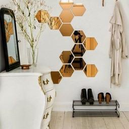 ... Sechseck Wandmuster Ideen Fuer Eine Tolle Wandgestaltung Mit Spiegeln