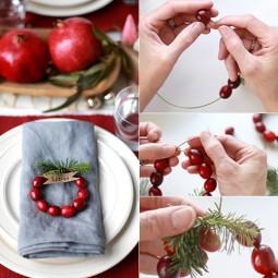 Servieten falten und dekorieren zu weihnachten_coole faltideen fuer weihnachtliche tellerplatzdeko.jpg