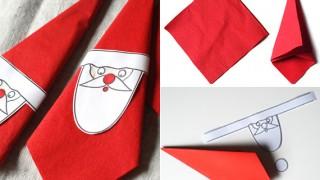 Servietten falten zu weihnachten schnelle faltidee fuer weihnachtsmann servietten.jpg