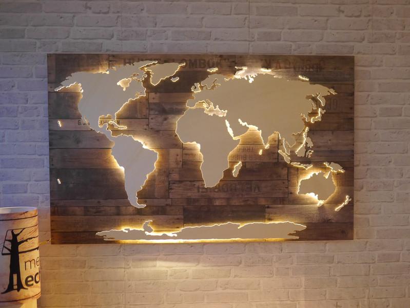 Wanddeko aus holz ist eine fantastische wandgestaltungsidee - Wanddeko beleuchtet ...