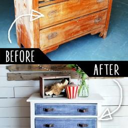 Antique dresser with denim treatment.jpg