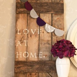 Diy pallet sign with paper bunting wall decor ideas.jpg