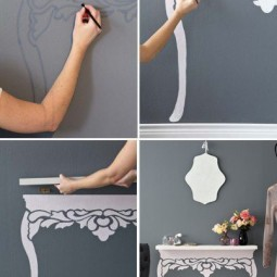 Diy projects to make your rental home look more expensive floating shelf.jpg