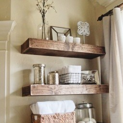 Diy projects to make your rental home look more expensive floating shelves.jpg