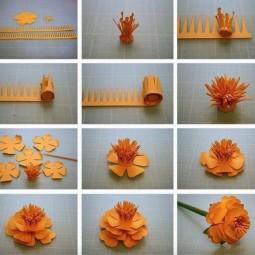 Blumen Aus Papier Basteln bastelideen blumen size of krepppapier blumen basteln