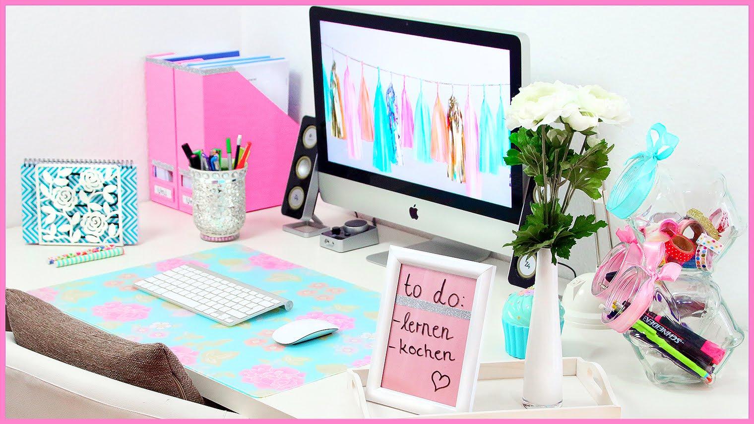 Schreibtisch organisieren ideen tipps for Schreibtisch dekorieren diy