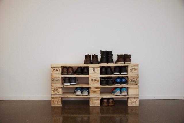 Schuhregal selber bauen europalette  DIY Ideen für Schuhregale 🙂 - nettetipps.de