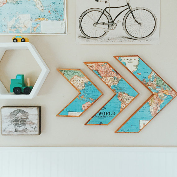 Map Wall Decor Ideas : Tolle ideen f?r wanddeko aus holz nettetipps