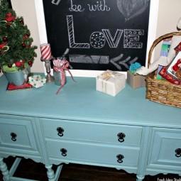 diy idee holzm bel blau bermalen. Black Bedroom Furniture Sets. Home Design Ideas