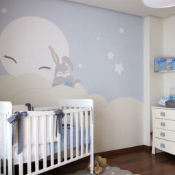 Wand dekoration f rs babyzimmer for Deko wand kinderzimmer